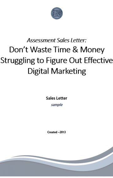 Marketing Assessment Sales Letter (sample)