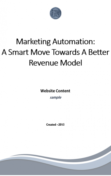 Marketing Automation Website Copy (sample)