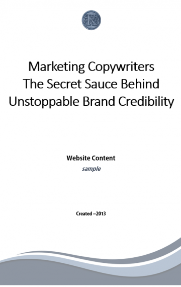 Marketing Copywriters Blog Post (cover page)