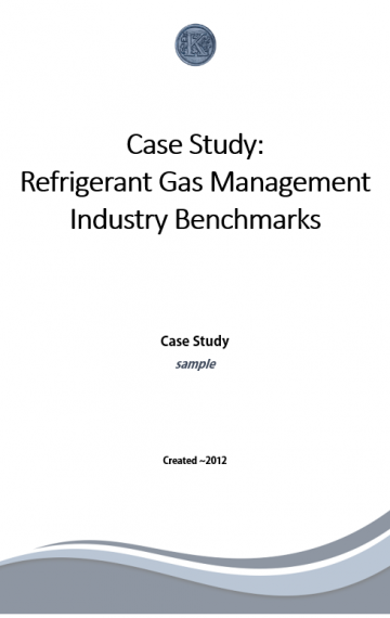 Refrigerant Management Case Study (cover page)